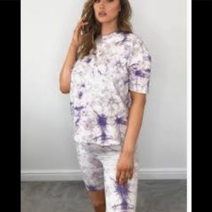 MissGuided Maternity t shirt and shorts set
